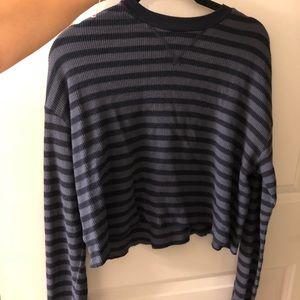 Tops - Striped waffle shirt